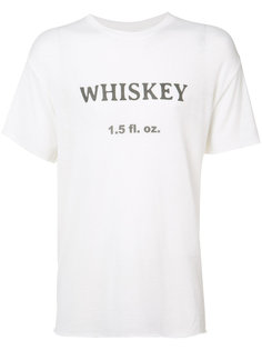 whiskey print T-shirt The Elder Statesman
