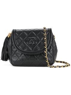 стеганая сумка на плечо с бахромой  Chanel Vintage