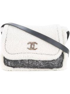 сумка на плечо с мехом  Chanel Vintage