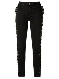 side lace up skinny jeans Amapô