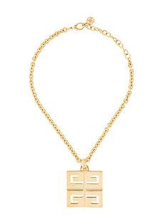ожерелье с подвеской-логотипом  Givenchy Vintage