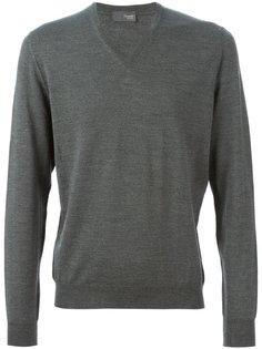 свитер c V-вырезом   Drumohr