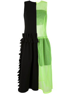 sheer neon detail dress Paskal