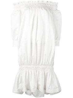 присборенное платье с открытыми плечами Rossella Jardini