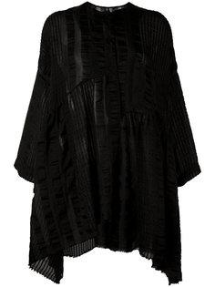 striped collarless tunic Uma Wang