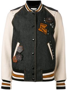 embellished varsity jacket Coach