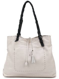 tassel appliques contrast shoulder bag Henry Beguelin