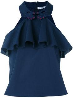 ruffled halterneck blouse Vivetta