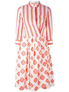 платье с запахом и контрастными панелями Sara Roka