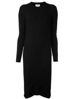 платье с прорезями на рукавах Donna Karan