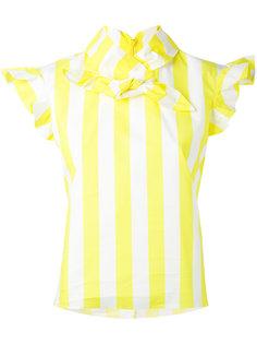 полосатая блузка с завязками на бант Marquesalmeida
