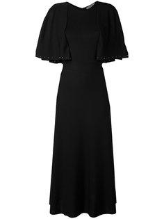 вязаное платье с имитацией кейпа Valentino
