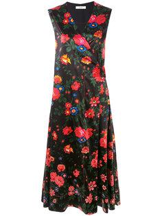 платье с цветочным принтом  Céline Vintage
