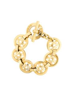 браслет-цепочка с перекрестьями  Céline Vintage