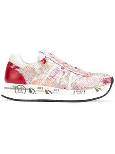 panel lace-up sneakers Premiata White