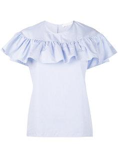 pinstripe frill blouse  Water