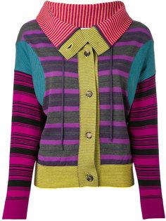 striped patchwork cardigan Loewe