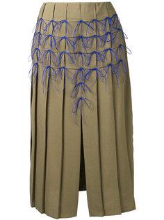 юбка в складку с аппликациями-бантами Marco De Vincenzo