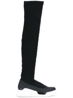 кроссовки с высоким вязаным голенищем Donna Karan