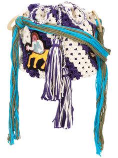 сумка кроше с вышивкой  Peter Pilotto
