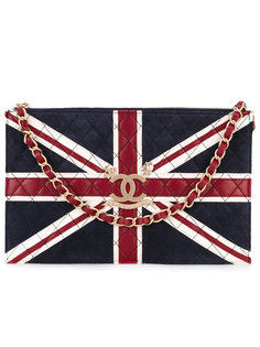 клатч с британским флагом  Chanel Vintage