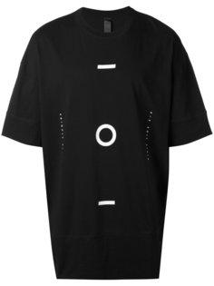 geometric print elongated T-shirt Odeur