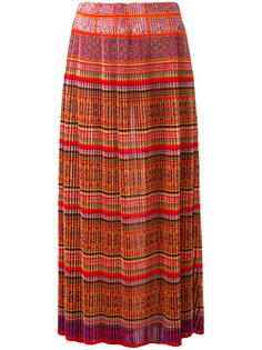 плиссированная юбка с геометрическим орнаментом Mes Demoiselles