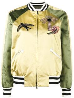 куртка-бомбер  с аппликацией Tropical Dream Valentino