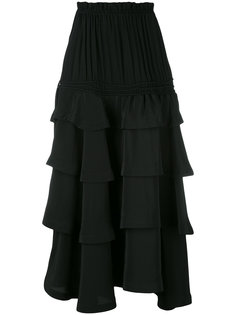 многоярусная юбка со сборками Rossella Jardini