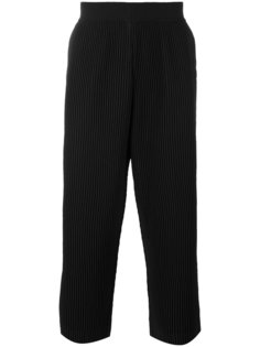ribbed cropped trousers Homme Plissé Issey Miyake