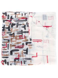 шарф с абстрактным принтом  Chanel Vintage