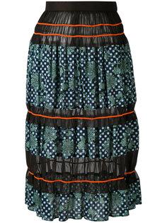 printed sheer panel skirt Kolor