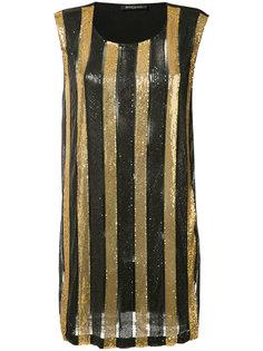 платье в полоску Balmain