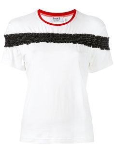 frill detail T-shirt Anna K