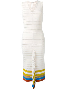 вязаное платье со складчатой отделкой Marco De Vincenzo