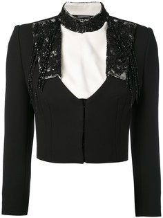 embroidered cropped jacket Alexander McQueen