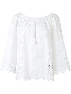 блузка с вышивкой Burberry