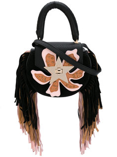 fringed flower tote  Salar