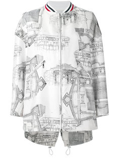 architecture print bomber jacket Moncler Gamme Rouge