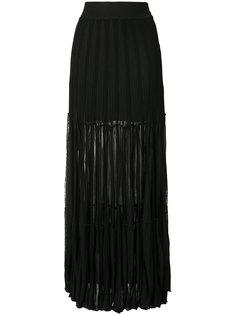 полупрозрачная плиссированная юбка-макси  Chloé