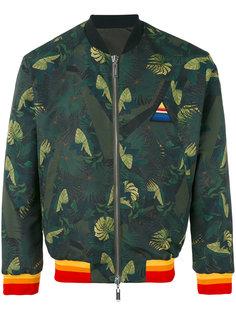 двусторонняя куртка-бомбер с пальмовым принтом  Iceberg