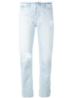 прямые брюки с протертой деталью Calvin Klein Jeans