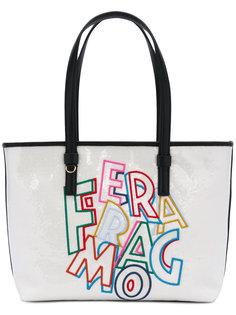 сумка-тоут с вышивкой логотипа Salvatore Ferragamo