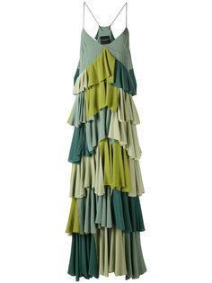 плиссированное платье с контрастными панелями Erika Cavallini