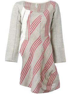 асимметричное платье в полоску Comme Des Garçons Vintage
