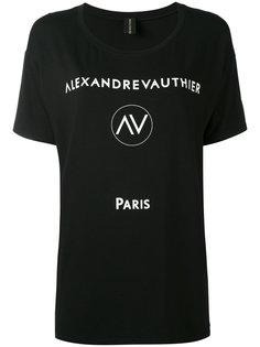 logo print T-shirt Alexandre Vauthier