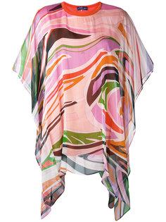 draped printed blouse Emilio Pucci