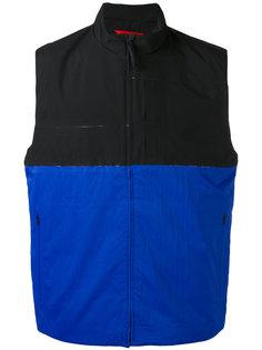colour block zipped waistcoat The North Face