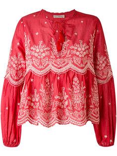 scalloped embroidery blouse Ulla Johnson