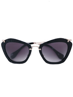 очки с квадратной оправой Miu Miu Eyewear